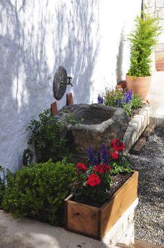 Old Stone Trough, Garden Old Stone Houses, Kitchen Island, Bathroom, Plants, Patio, Furniture, Design, Outdoor Decor, Garden