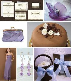 Marrom com lilás | Blog de Casamento