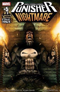 Punisher: Nightmare No. Punisher Marvel Comics Poster - 30 x 46 cm Punisher Marvel, Marvel Dc Comics, Punisher Comic Book, Marvel Art, Marvel Heroes, Punisher Skull, Daredevil, Marvel Comic Character, Comic Book Characters