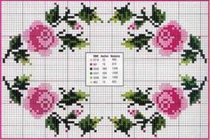 This Pin was discovered by Ayş Mini Cross Stitch, Cross Stitch Borders, Cross Stitch Rose, Cross Stitch Flowers, Cross Stitch Designs, Cross Stitching, Cross Stitch Embroidery, Hand Embroidery, Cross Stitch Patterns