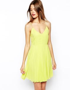 ASOS Cami Mini Pleated Dress