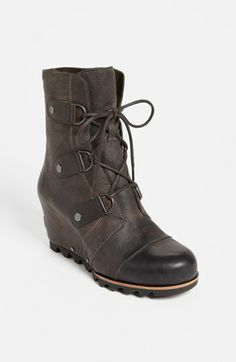 Needing new boots for my many upcoming trips to Alaska.  SOREL 'Joan of Arctic' Wedge Boot available at #Nordstrom