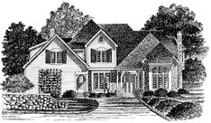 Eplans French Country House Plan - Tudor Home with Exquisite Floor Plan - 3558 Square Feet and 6 Bedrooms(s) from Eplans - House Plan Code HWEPL09664