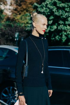Minimal and Chic on the streets during Paris Fashion Week....