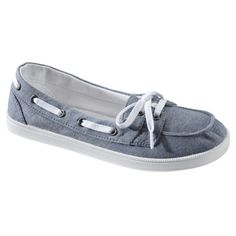 Womens Mossimo Supply Co. Litzy Canvas Boat Skimmer - Chambray.