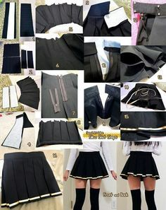 School girl skirt tutorial for future reference... LoL Is this how they're actually made in Japan, or is anime just making it harder than it's supposed to be?? XD