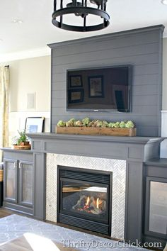 Build up the fireplace to the ceiling to make it a true focal point
