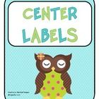 Center labels 1-6 great for center buckets or table labels....