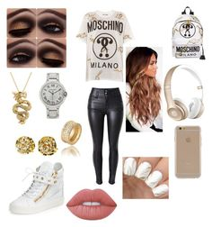 Moschino by incredibly on Polyvore featuring polyvore мода style Moschino Giuseppe Zanotti Effy Jewelry Cartier Agent 18 Lime Crime Beats by Dr. Dre fashion clothing