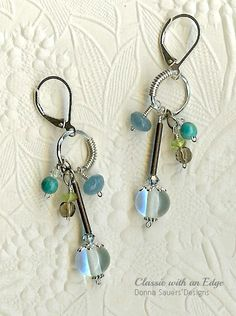 Waters Edge Circle Earrings | Donna Sauers Designs