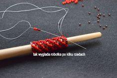 anna kowal: russian spiral worked around a dowel ~ Seed Bead Tutorials Crochet Beaded Bracelets, Bead Crochet Rope, Beaded Jewelry Patterns, Bead Embroidery Tutorial, Peyote Beading, Bijoux Diy, Bracelet Tutorial, Beading Tutorials, Dreads