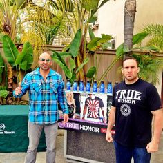 UFC Vet and Pro Athlete @mma_punisher and TH Founder @bardia_rahim at the True Honor House!!! @mma_punisher