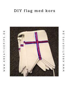 Lav selv forskellige flag med kors. Her er det det færørske flag med dobbelt kors. Kors, Flag, Diy, Sewing, Swimwear, Fashion, Creative, Bathing Suits, Moda