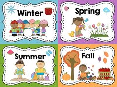 Display these FREE posters in your classroom to help your students remember the names of the 4 seasons.
