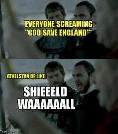 LOL  - Vikings - Athelstan Athelwulf be like, What did you say?!