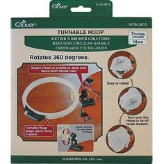 Hand Embroidery Hoops and Frames 160721: Clover Turnable Hoop-7-Inches -> BUY IT NOW ONLY: $44.83 on eBay!