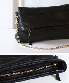A fold clutch with chain strap