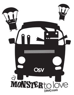 Our new Monster T, celebrating the newest member of the Monster Crew...our OSV, Onsite Sewing Vehicle. Checkout the details at: http://amonstertolove.com/blog/2012/9/19/osv-t-shirts