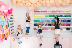 Bonjour Fete is open for business! The party supply boutique recently opened their doors in sunny Los Angeles after a major renovation that included new Frosty Carrina Honed surfaces.