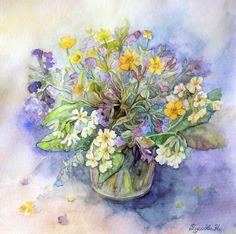 (2) Gallery.ru / Фото #5 - Акварельные цветы художницы Натальи Улумовой - Anneta2012