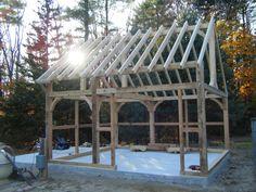 timberframe shed | Timber Frame Shed Barre Mass