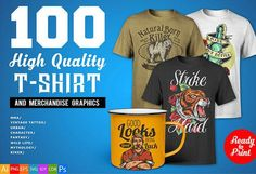 0d3fe3f8e Thefancydeal deliver to a different superb 100 T-shirt Designs Bundle -  #amazing #
