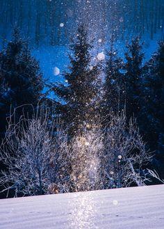 Diamond dust - Winter in Biei, Hokkaido, Japan:beautiful villages Beautiful Places In Japan, Beautiful World, Snow Japan, Japan Tourism, Travel Sights, Winter Magic, Snow Scenes, Winter Beauty, Winter Wonder