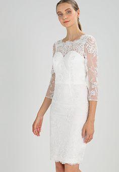 Chi Chi London BRANNA - Sukienka koktajlowa - off white - Zalando. Chi Chi, Off White, Beauty Makeup, Oxford, White Dress, London, Wedding Dresses, Lace, Euro