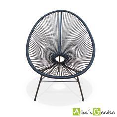 Acapulco noir http://www.alicesgarden.fr/mobilier-jardin/chaise/huevo-fauteuil-oeuf?selected=708