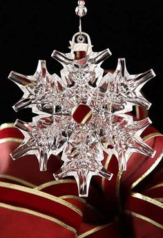 As is now an annual tradition, this will be on our tree for Christmas 2013. Just beautiful!  Waterford 2013 Snow Crystal Pierced Ornament