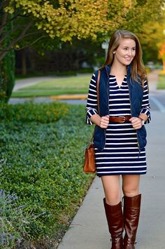 a little striped dress