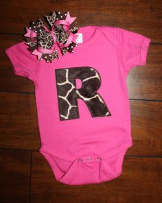 Giraffe Initial Boutique Shirt or Onesie by StitchesGaloreStore @kelly beliveau how perfect hahaha