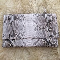 Authentic Python Clutch Imported from Turkey. Real python. Authentication of python upon request. Bags Clutches & Wristlets