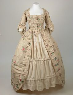 Robe a la francaise, 1770 From the National Trust