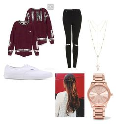 """Casual "" by alyvinsik on Polyvore featuring Topshop, Vans, House of Harlow 1960 and Michael Kors"