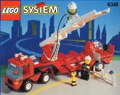 LEGO 6340 Hook and Ladder instructions displayed page by page to help you build this amazing LEGO Rescue set Old Lego Sets, Lego Books, Lego Fire, Classic Lego, Free Lego, Lego System, Vintage Lego, Funny Videos For Kids, Lego Group