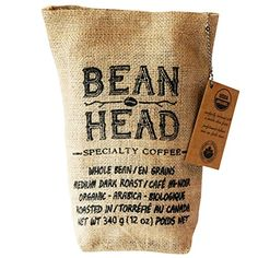 Bean Head Premium Organic Coffee, 12 Ounce ** Read more details by clicking on the image. Organic Coffee Brands, Best Organic Coffee, Vegan Food Online, Coffee Tasting, Coffee Type, Coffee Branding, Dark Roast, Coffee Beans, Zara