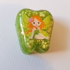 Tooth Fairy Box for girls in sparkly green, Perfect Newborn Gift, Present For School kids Tooth Fairy Box, Tooth Box, Little Girl Gifts, Gifts For Boys, Fairy Wands, First Tooth, Fairy Doors, School Kids, Little Boxes