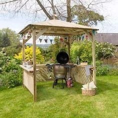 Zest 4 leisure broxton wooden #garden #gazebo shelter arbour #canopy roof bbq,  View more on the LINK: 	http://www.zeppy.io/product/gb/2/132053084644/