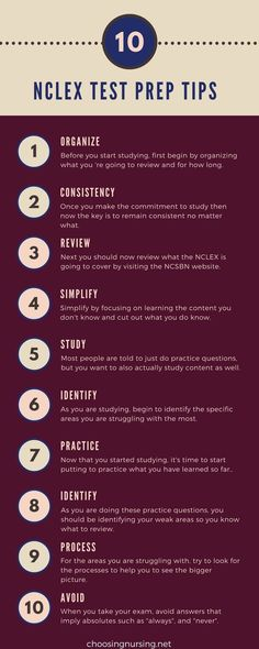 NCLEX Test Prep Tips | Not sure how to prepare correctly for your NCLEX exam? Here are 10 tips to help you to get started.