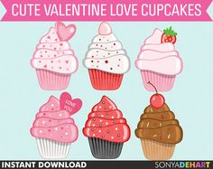 60 OFF Clipart Love Cupcakes Scrapbooking by SonyaDeHartDesign  https://www.etsy.com/listing/89352710/60-off-clipart-love-cupcakes?ref=shop_home_active_20