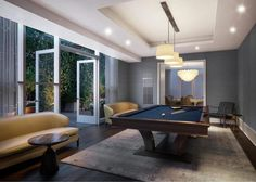 Madison Square Park Tower at 45 East Street in Flatiron, - Sales, Rentals, Floorplans Pool Table Dining Table, Douglas Elliman, Billiard Room, Roomspiration, Madison Square, Real Estate Broker, Bench With Storage, Condos For Sale, Flat Iron