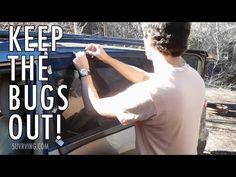 DIY Window Screens/Bug Screens for Sleeping in a Car, SUV, or Van - YouTube