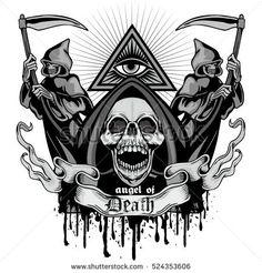 Gothic coat of arms with skull, grunge.vintage design t-shirts Female Werewolves, Gothic Coat, Unique Tattoo Designs, Pink Skull, Coat Of Arms, Werewolf, Vintage Designs, Grunge, Royalty Free Stock Photos