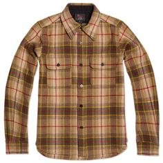 Woolrich Woolen Mills PPO Shirt (Multi Brown Plaid) -this looks reeeaaallly good in person. =)