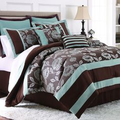 Adara 8-piece Floral Jacquard Comforter Set   Overstock.com Shopping - Great Deals on Comforter Sets