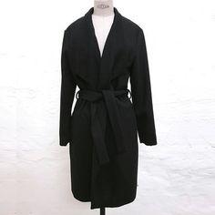 Wrap Coat, svart