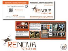 Tipologia: Coordinato aziendale.  Logotipo - Biglietto da visita - Pieghevole - Restilyng sito web - Posizionamento sito  Cliente: Renova Padova