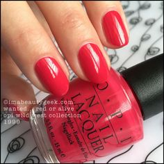 OPI Wanted...Red or Alive - Wild West Collection 1999