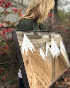 RAW Restorations, reclaimed wood art, wood wall art, mountain art, barnwood art